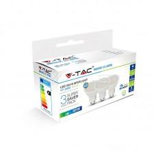 LED Spotlight - 5W GU10 SMD White Plastic 320Lm 2700K 3PCS/PACK