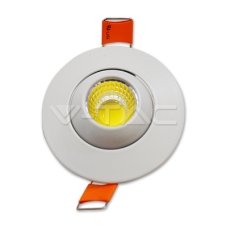 3W LED Downlight With Moving Head Round 6400K