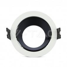 GU10/GU5.3(MR16) Fitting White+Black Round VT-872