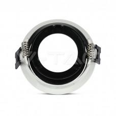 GU10/GU5.3(MR16) Fitting White+Chorme Round VT-872