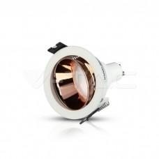 GU10/GU5.3(MR16) Fitting White+Rose Gold Round VT-872