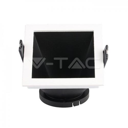GU10/GU5.3(MR16) Fitting White+Black Square VT-875