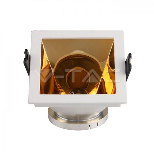 GU10/GU5.3(MR16) Fitting White+Gold Square VT-875