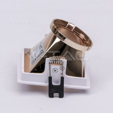 GU10/GU5.3(MR16) Fitting White+Rose Gold Square VT-875