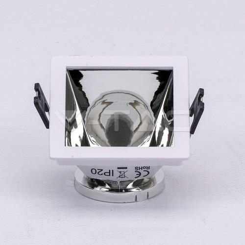 GU10/GU5.3(MR16) Fitting White+Chorme Square VT-875