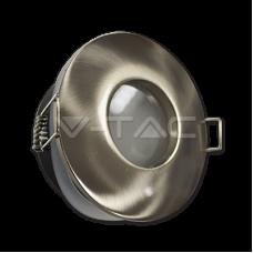 GU10/GU5.3(MR16) Fitting Matt Round ф84 Satin Nickel