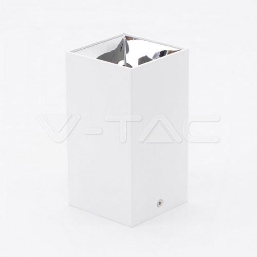GU10/GU5.3(MR16) Fitting Square White + Chrome