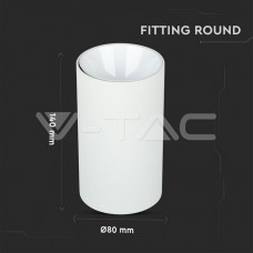 GU10/GU5.3(MR16) Fitting Round White + White