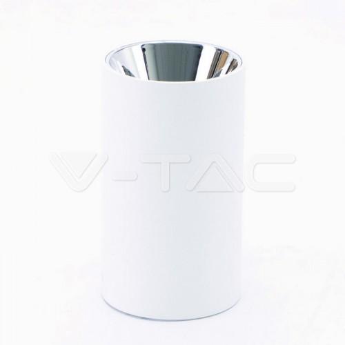 GU10/GU5.3(MR16) Fitting Round White + Chrome