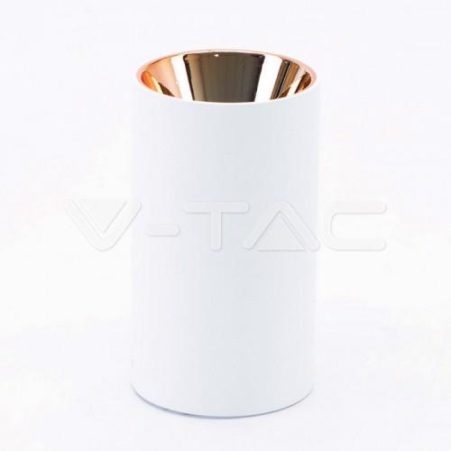 GU10/GU5.3(MR16) Fitting Round White + Rose Gold
