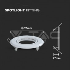 GU10/GU5.3(MR16) Round Spotlight Fitting White 2 pcs/box Ф93