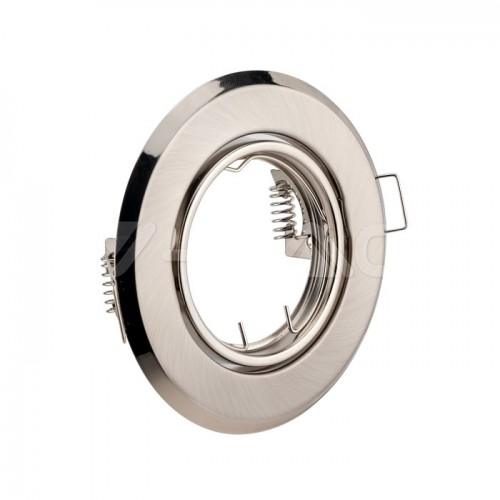 GU10/GU5.3(MR16) Round Spotlight Fitting Satin Nickle 2 pcs/box Ф93