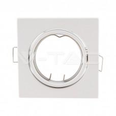GU10/GU5.3(MR16) Square Spotlight Fitting White 2 pcs/box 82X82