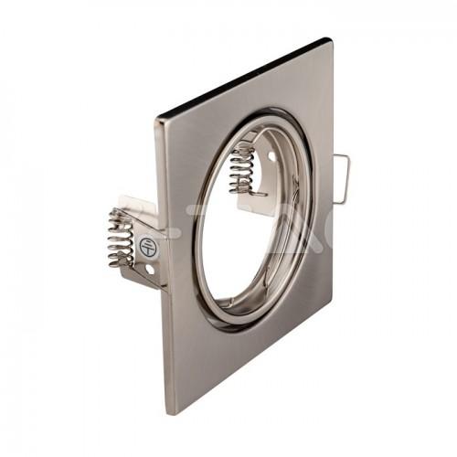 GU10/GU5.3(MR16) Square Spotlight Fitting Satin Nickle 2 pcs/box 82X82
