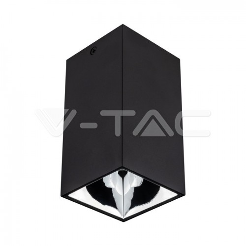 GU10/GU5.3(MR16) Fitting Square Black + Chrome