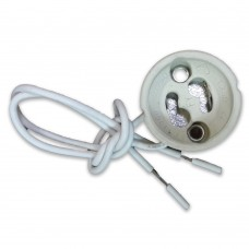 GU10 Ceramic Lamp Holder With Silicon Cable