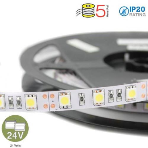 LED Strip SMD5050 - 60 LEDs 24V 4000K IP20