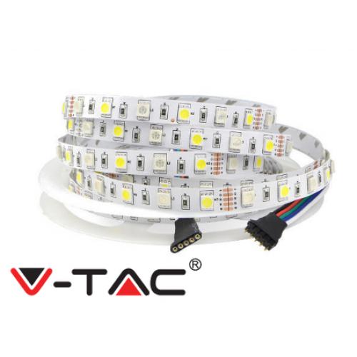 LED Strip 5050 - 60 LEDs 12V IP20 RGB + 3000K