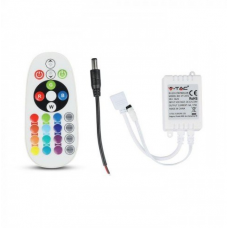 Infrared Controller with Remote Control 24 Buttons Round