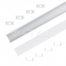 Led Strip Mounting Kit With Diffuser Aluminum 2000* 23.5*10MM Milky
