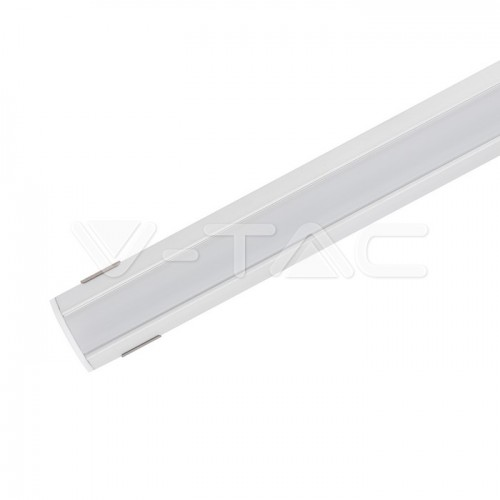 Led Strip Mounting Kit With Diffuser Aluminum 2000* 19*19MM Milky