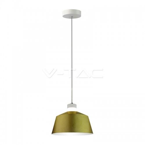 7W LED Pendant Light Gold Ø250 Warm White