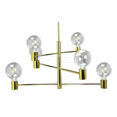 Modern Chandelier Gold Adjustable 6 Bulbs