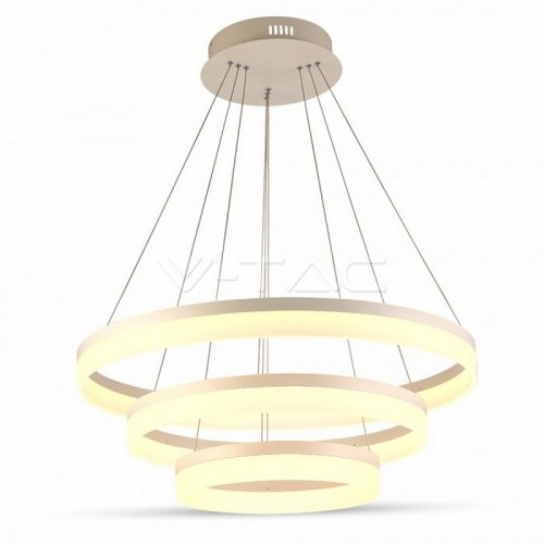 80W Soft Light Chandelier Slim 3 Step Dimmable Natural White
