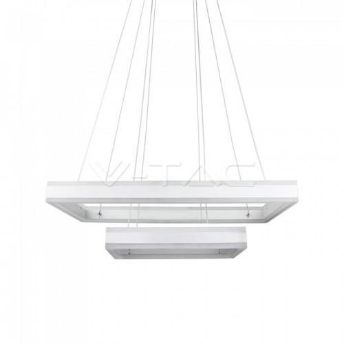 115W Soft Light Chandelier Dimmable Square White 3000K