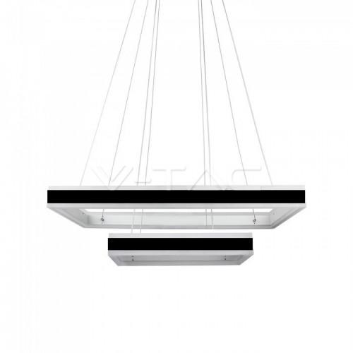 115W Soft Light Chandelier Dimmable Square Black 3000K
