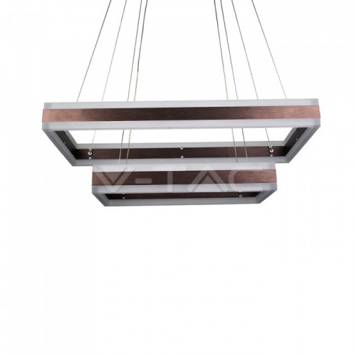 115W Soft Light Chandelier Dimmable Square Coffee 3000K