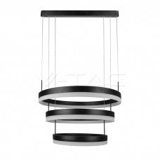 92W Soft Light Chandelier Dimmable Black 3000K