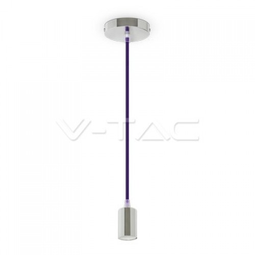 Chrome Pendant Light Purple