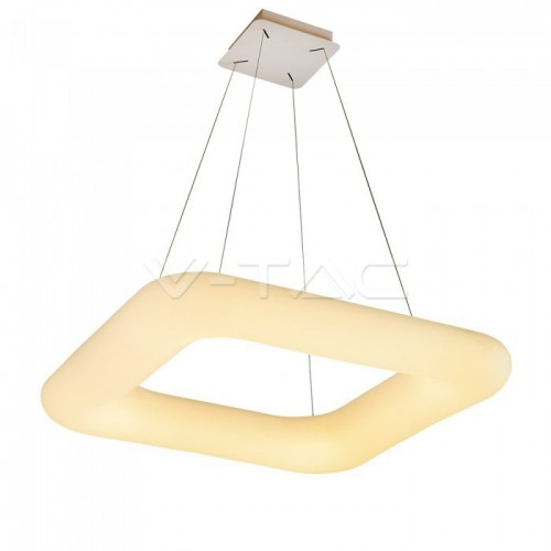 42W Pendant Square Color Changing 600 x 600 Dimmable White