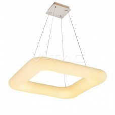 80W Pendant Square Color Changing 750 x 750 Dimmable White