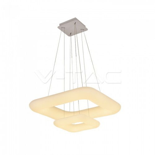 68W Pendant Square Color Changing Dimmable White