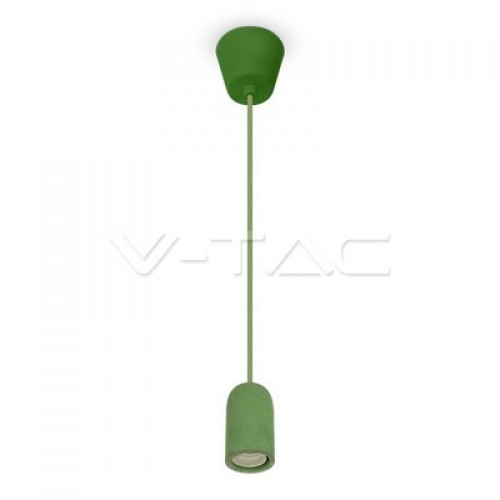Concrete Pendant Light Green