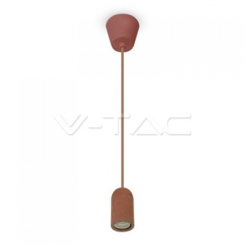 Concrete Pendant Light Red