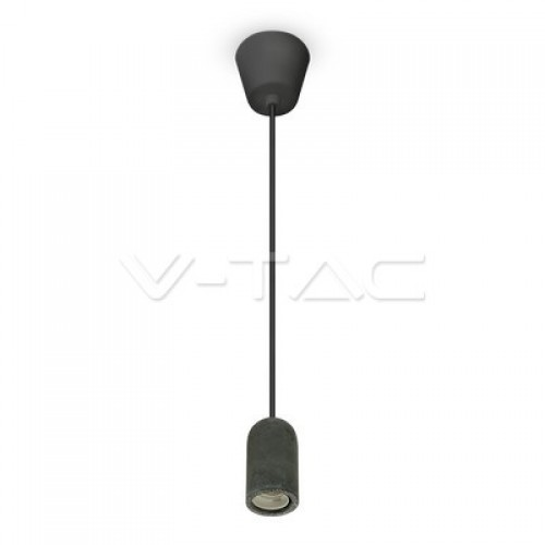 Concrete Pendant Light Black