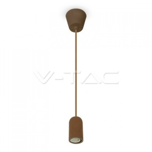 Concrete Pendant Light Brown