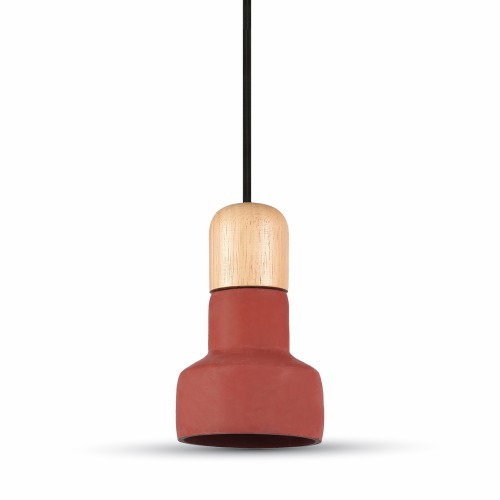 Pendant Light Concrete Red