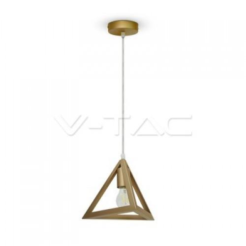 Geometric Pendant Light Champagne Gold Triangle