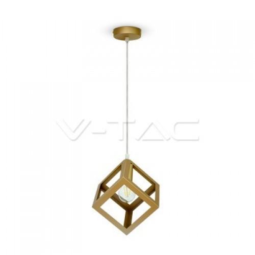 Geometric Pendant Light Champagne Gold Square