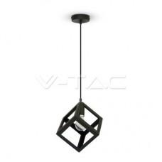 Geometric Pendant Light Matt Black Square
