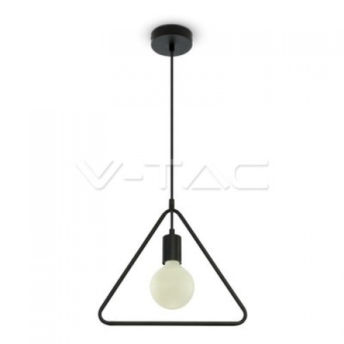 Geometric Pendant Light Matt Black Single Triangle
