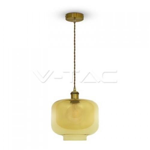 Glass Pendant Light Amber