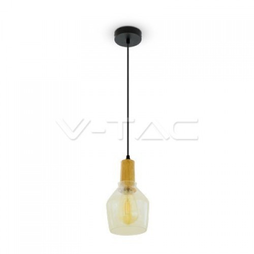 Glass Pendant Light Amber Ф135