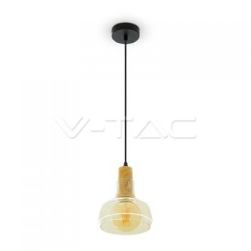 Glass Pendant Light Amber Ф165