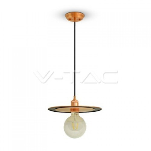 Metal Pendant Light Rose Gold