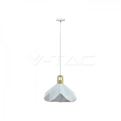 Pendant Light Pastel Wooden Prism White 320 x 270 mm